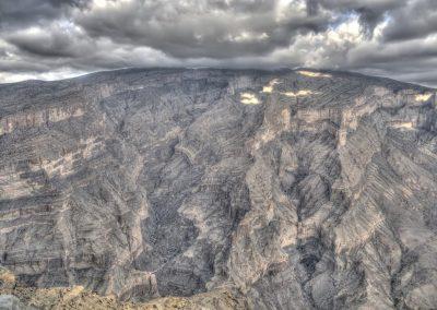 Impressive scenery at Jabal Shams