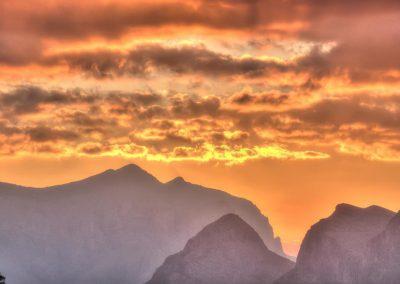 Sunset at Jabal Shams