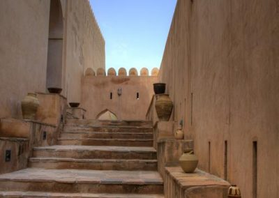 Nakhal fort, entrance area