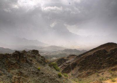 Rain close to Al Ayn